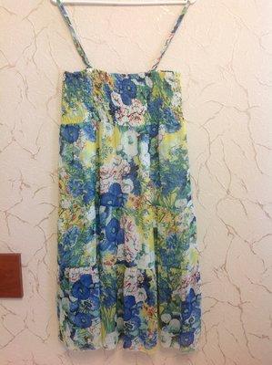 Летний сарафан в ярких сочных цветах, размер 50.
