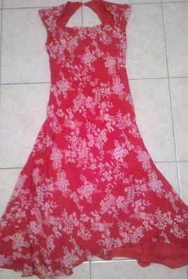 шикарное платье натур шелк цветы р Хс-С-М