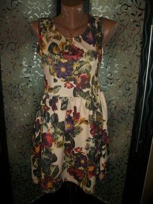 платье цветочный принт евро размер 12 ribbon
