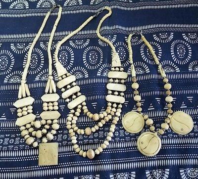 Бусы колье ожерелье этника винтаж слоновая кость Индия