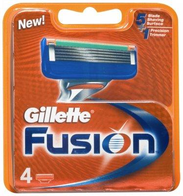 Gillette Fusion 4 картриджа в упаковке