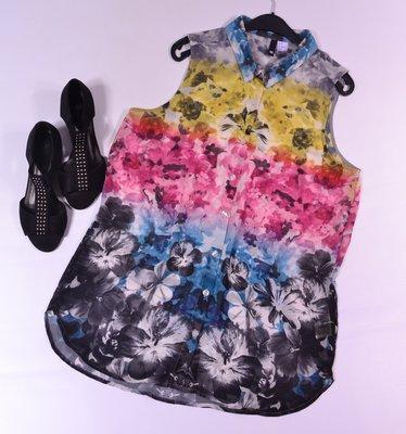 Красочная шифоновая блуза H&M