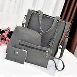 Стильный набор сумок Jingpin 4в1 для модных девушек В Наличии
