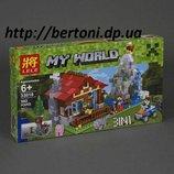 Конструктор LELE Minecraft 33018 Домик в горах 3 в 1 592 дет