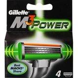 Gillette Mach3 Power 4 картриджа в упаковке
