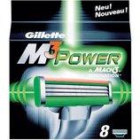 Gillette Mach3 Power 8 картриджа в упаковке