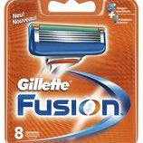 Gillette Fusion 8 картриджей в упаковке