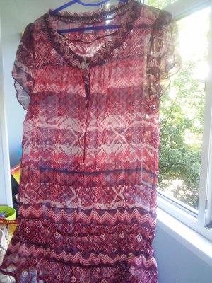 Шифоновая блузка туника 46р. евро, очень легкая, приятная к телу
