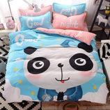 Полуторное двухсторонний комплект постельного белья для детей и подростков