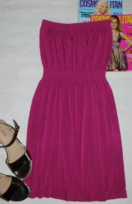 Яркое пляжное платье туника бандо из натуральной ткани Ocean Club