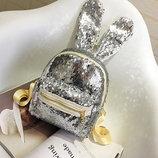 Супер стильный городской рюкзак с ушками и пайетками Хамелеон В Наличии