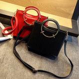 Элегантная женская сумка с круглыми ручками В Наличии