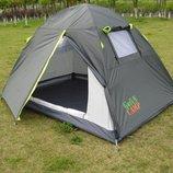 Туристическая палатка Green Camp 1001A / 1001B 2-х местная. 2-х слойная