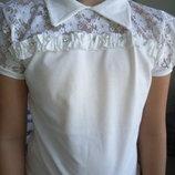 Блуза, размер 6 -13 лет, блузка школьная, нарядная.