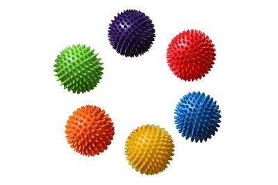 Мяч массажный с пупырышками 4520 6 цветов, размер 23,5см