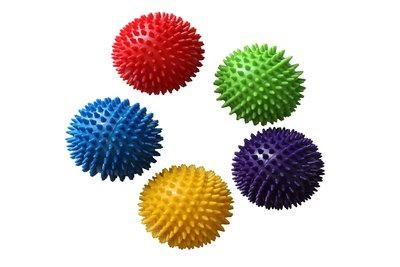 Мяч массажный с пупырышками 4521 5 цветов, размер 28см
