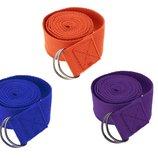 Ремень для йоги 1344, 3 цвета длина 2,9 м, ширина 4 см