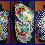 Летящая шифоновая блуза Цветы, р. 46-48