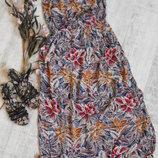 Летнее макси платье в пол,бюстье легкое New Look -М-L-ка
