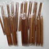 Чулочные бамбуковые спицы от 2 мм до 10 мм
