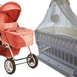 Акция New Комплект коляска Geoby кроватка маятник постель матрас