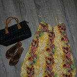 38/S Roxy Платье,желтый сарафан колокол 100%хлопок Индия