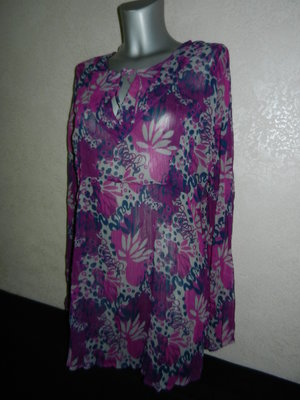 48-50/L-XL Cauenline Италия фиолетовая пляжная туника платье парео новая