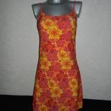 S/М-38/40 Германия Желтое пляжное купальное платье новое