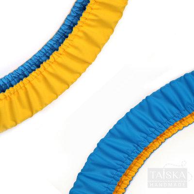 Чехол для обруча двухсторонний Желто-Голубой