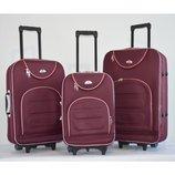 Чемодан сумка женский Bonro комплект 3 штуки Цвет бордовый