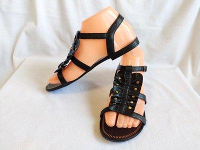 Босоножки женские кожаные черные Tu размер 37, UK4