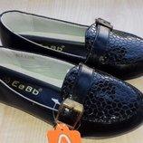 Туфли лодочки черные Тм EeBb р31,32,33,34,35,36 качество супер