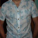 Фирменная брендовая стильная рубашка шведка Easy м-л .