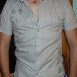 Стильная брендовая рубашка шведка Denim Дэним м .