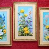 Новый триптих Полевые цветы