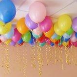 Воздушные шары шарики из фольги для гелия трубочки для шаров лента бумажная посуда