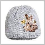 Теплая шапочка на флисе с милым олененком, H&M