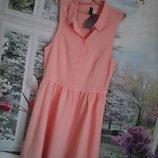 Платье персик ,очень нежное ,новое с бирками р 12 на 46-48 размер