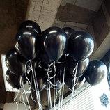 Черные, золотые, белые, прозрачные воздушные шары гелиевые шарики
