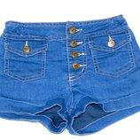 Стильные джинсовые шорты, 4-5 лет, 104, 110 Состояние новых