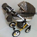 Детская универсальная коляска Adamex Gloria City Brown