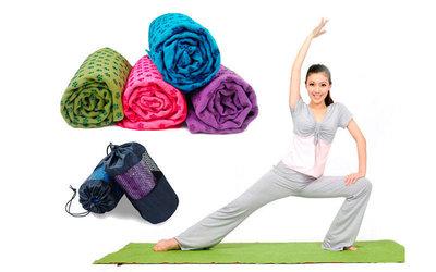 Йога полотенце коврик для йоги 4938, 4 цвета 1,83x0,63м, микрофибра силикон