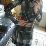 Платье миди теплое