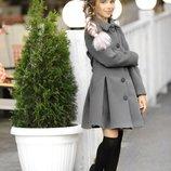 Кашемировое пальто осень для девочки