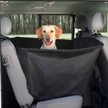 Коврик защитный для собак на заднее сидение авто нейлон черный 1,50х1,35м