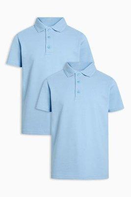 поло белое голубое рубашка поло для мальчика NEXT
