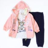 9-24м Костюм 3в1 люкс сладкий Миша Baby Rose 74-92