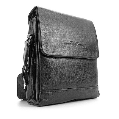 9d2f9db7defa Сумка мужская малая кожаная планшет черная Giorgio Armani 7911-1 ...