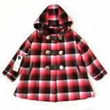3-4 Akkon пальто шерсть кожа наполнитель 98, 104 с капюшоном деми-зима эксклюзив