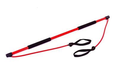Палка гимнастическая для фитнеса с эспандерами Bodi Shaper Stick 931 длина 130см